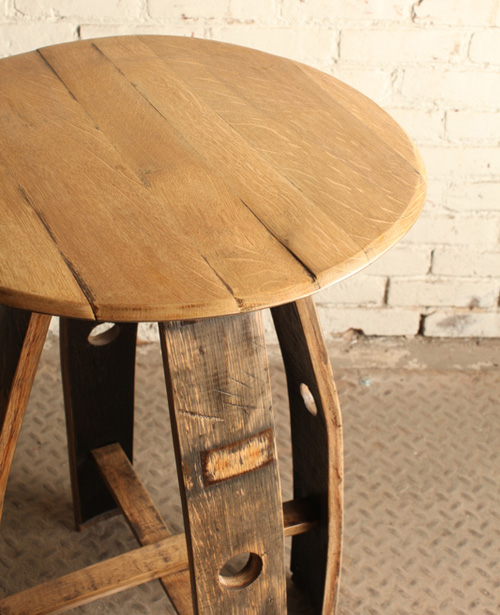 Bourbon Barrel Furniture : ECLECTIC LIVING HOME