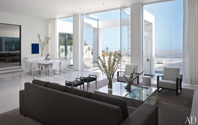 James magni design beverly hills home 04 living dining for Minimalist house beverly hills