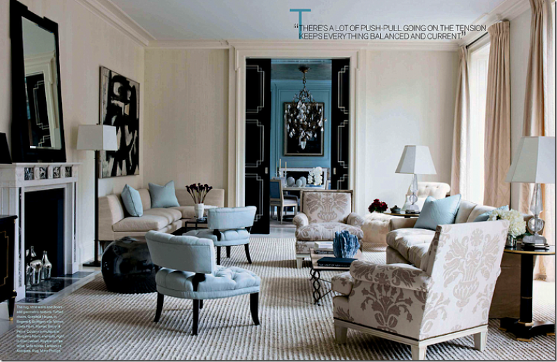 Color scheme black and blue eclectic living home for 1920s living room ideas