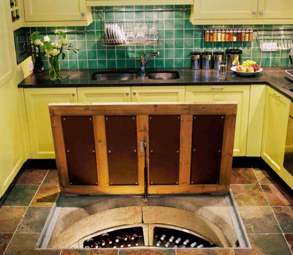 And now for something completely different eclectic - Wine cellar trap door ...