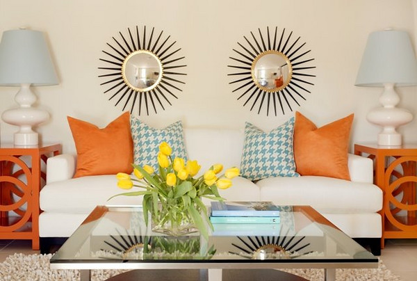 Color Scheme: Turquoise and Orange | ECLECTIC LIVING HOME - Turquise And Orange Home Decor