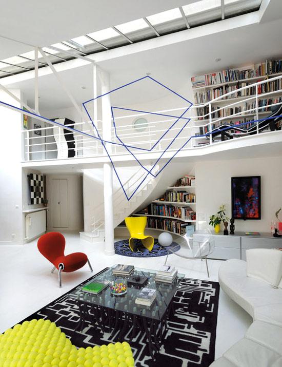 Ooh la la eclectic living home for Loft banlieue parisienne