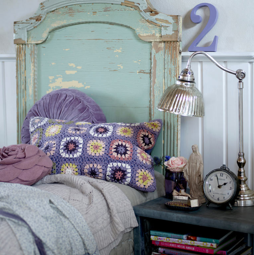 Color Scheme: Aqua and Purple » purple-shabby-chic-bedroom