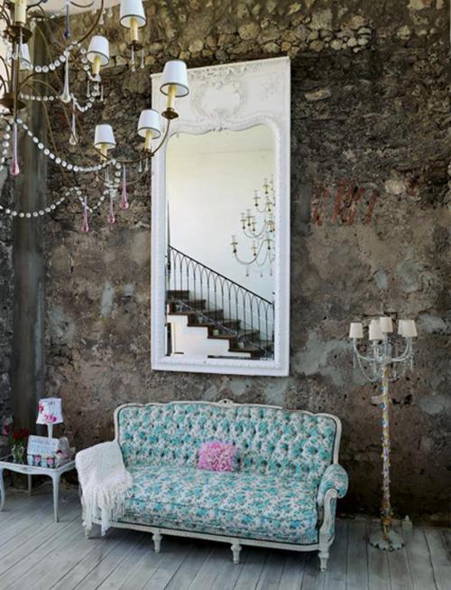 Color Scheme: Aqua and Purple ? shabby-chic-rustic-pastels-interior