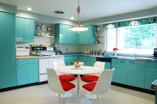 Colorful Kitchen Cabinets a rainbow of kitchens | eclectic living home