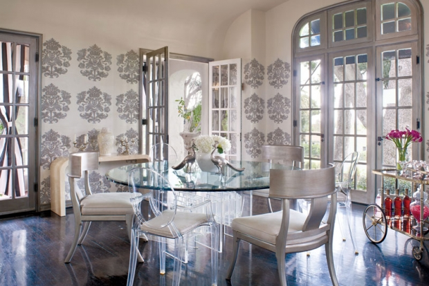Delicious dining rooms eclectic living home for Glam dining room ideas