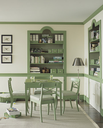 Color scheme mint green and grey eclectic living home - Martha stewart dining room furniture ...
