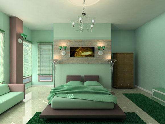 light green relaxing master bedroom colors