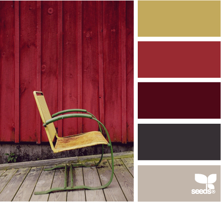Color scheme red and grey eclectic living home - Maroon and grey color scheme ...