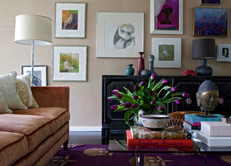 Color Scheme Purple And Gold Eclectic Living Home