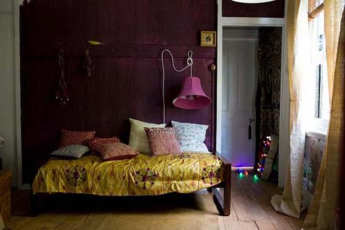 Color scheme purple and gold eclectic living home Purple and gold bedrooms