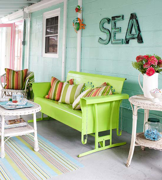 Eclectic breeze inn eclectic living home Cottage porch decorating ideas
