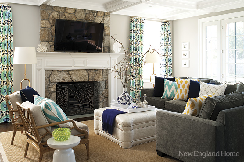 New England Style Eclectic Living Home