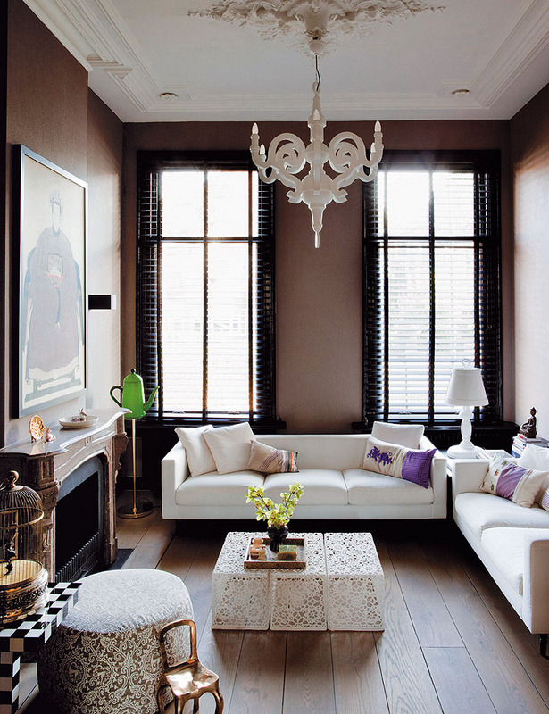 Celebrity Rooms Design: Eclectic+Modern+Flemish Style