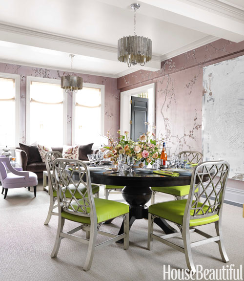 Green Dining Room Chairs: ECLECTIC LIVING HOME