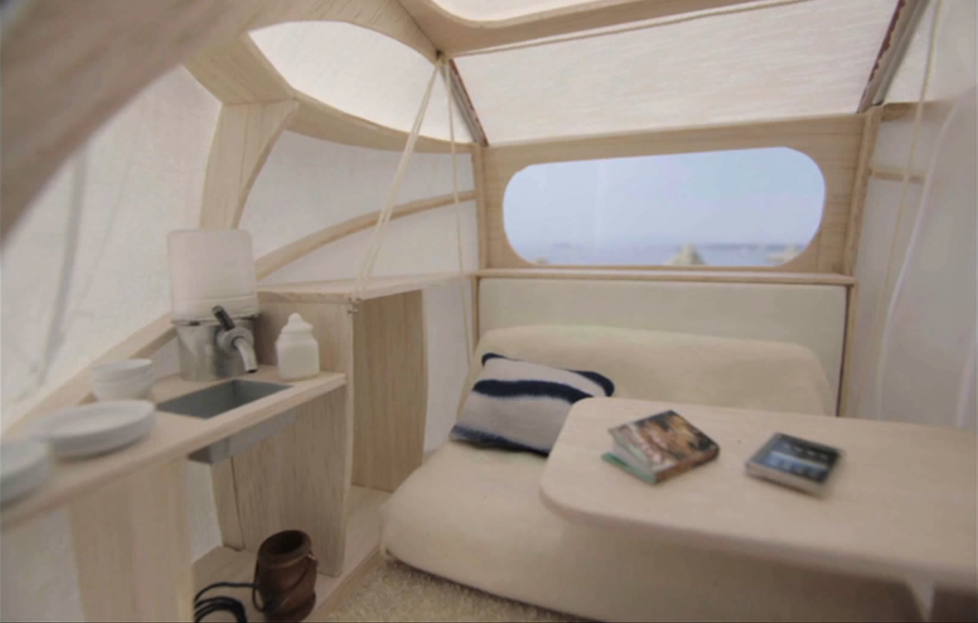 Zero pod living eclectic living home for Google sleep pod price