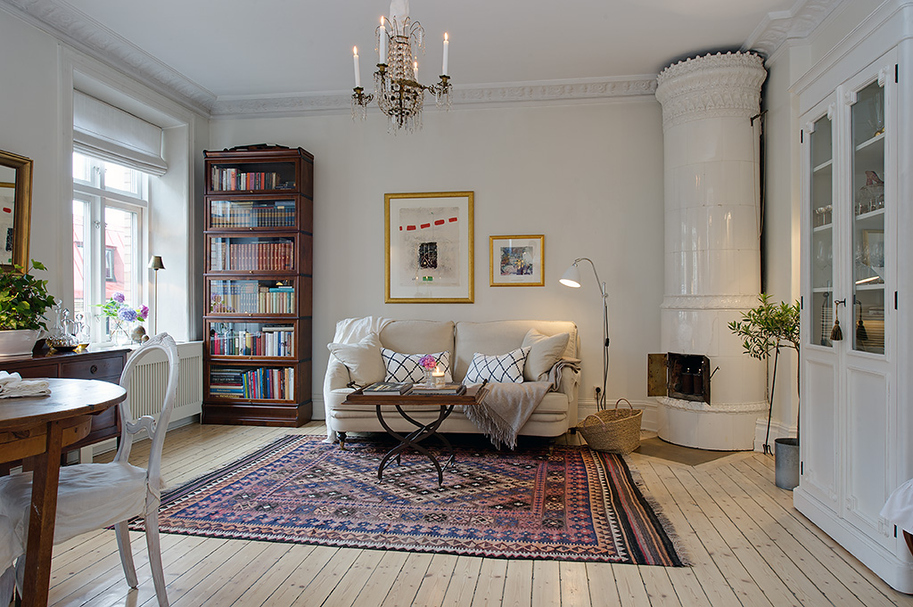 Simply swedish eclectic living home for Interieur suedois
