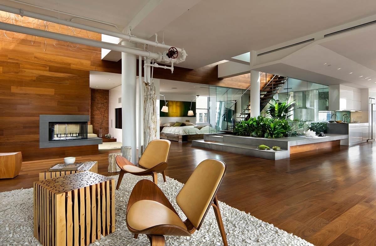 modern in manhattan eclectic living home. Black Bedroom Furniture Sets. Home Design Ideas