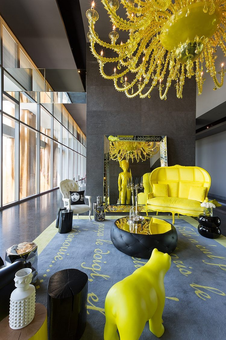yoo panama by philippe starck eclectic living home. Black Bedroom Furniture Sets. Home Design Ideas
